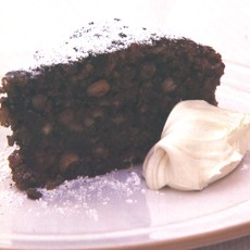 Italian Chocolate Nut Christmas Cake