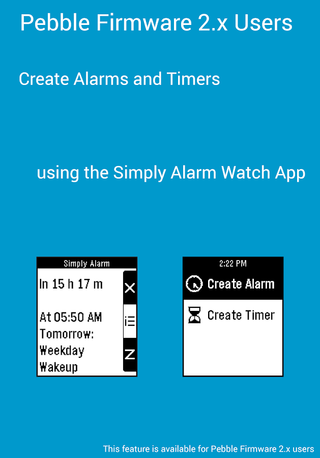 Simply Alarm for Pebble- screenshot