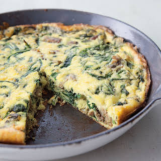 Frittata with Turkey Sausage and Arugula.