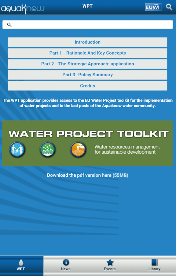 Water Project Toolkit- screenshot