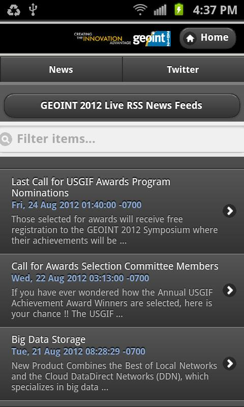 GEOINT 2012 Symposium- screenshot