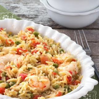 Lemon Orzo Shrimp Casserole