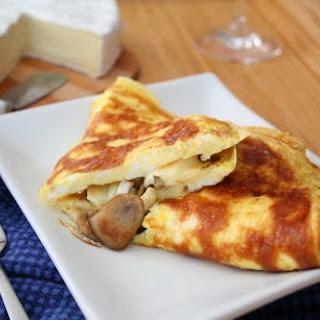 Mushroom Brie Omelet.