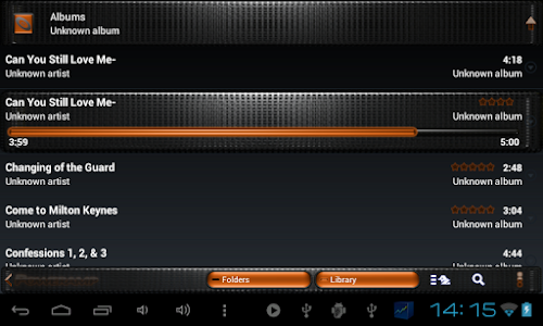 Poweramp skin TITAN ORANGEGRID v3.02