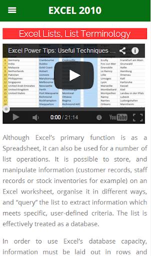 Excel 2010 Tutorial Advanced