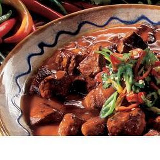Warming Mexican beef casserole.