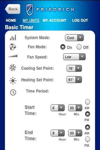 FriedrichLink Android App - screenshot