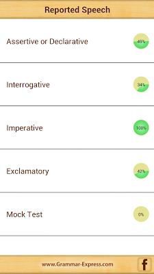 Grammar : Reported Speech Lite - screenshot