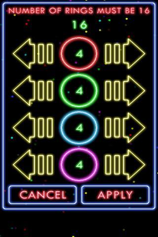 Puzzle Neon Rings- screenshot