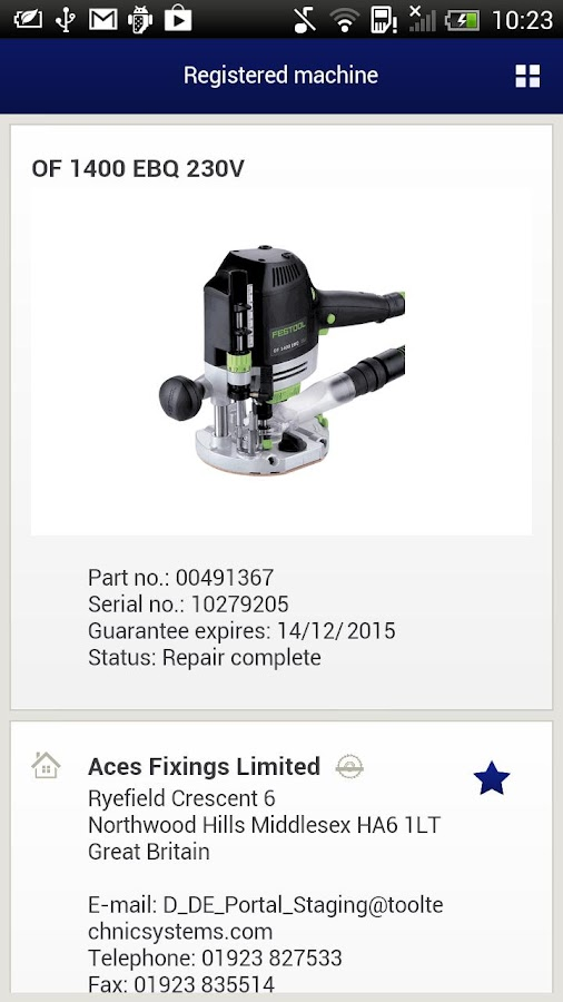 Festool- screenshot