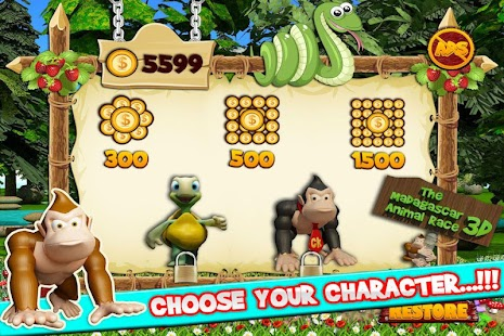 The Madagascar Animal Race 3D screenshot