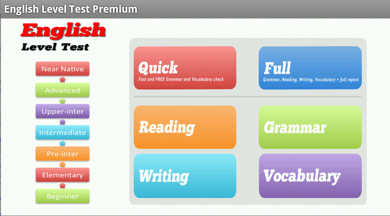 English Level Test – (Android Apps) — AppAgg
