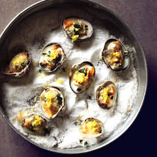 Littleneck Clams With Lemon, Thyme, And Parmesan.