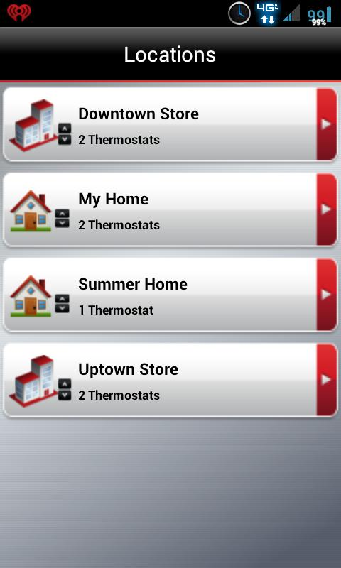 Screenshots of Total Connect Comfort for iPhone