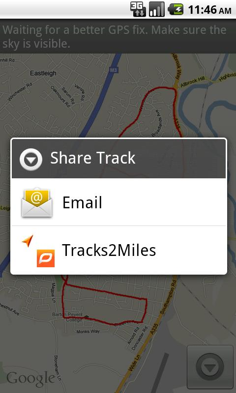 Tracks2Miles - screenshot