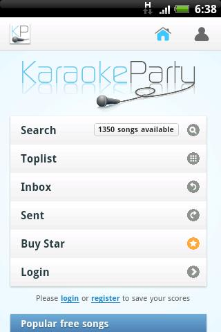 Karaokeparty.com - screenshot