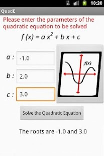 Quadratic Equation Solve/Graph- screenshot thumbnail