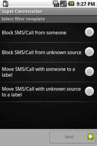 Private SMS & call - screenshot