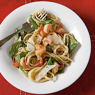Peppery Pasta with Arugula and Shrimp