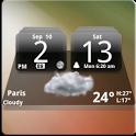 MIUI Dark Digital Weather CL. icon
