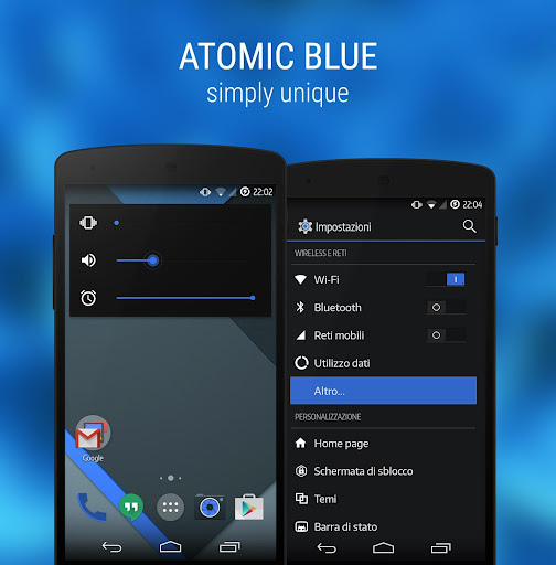 Atomic Blue Revo – CM11 Theme v2.70 apk free download