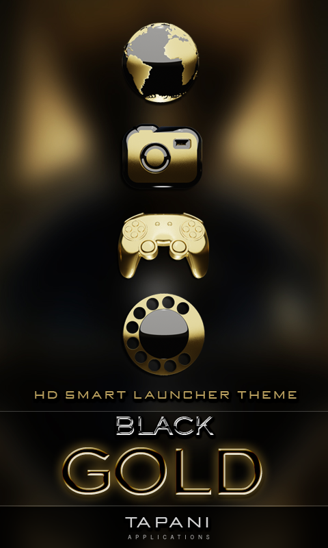 Smart Launcher theme b  gold APK Cracked Free Download   Cracked