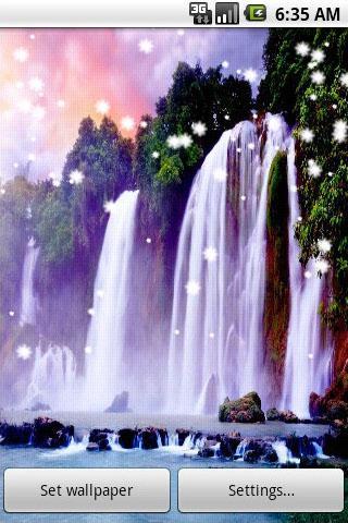 ... 3D Waterfall Live Wallpaper ...