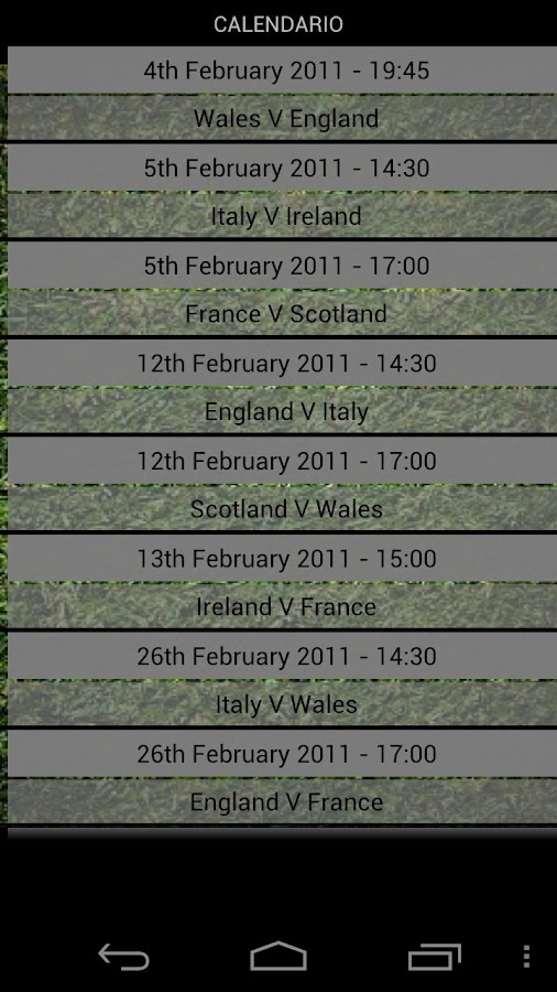 6 Nations Trivia - screenshot