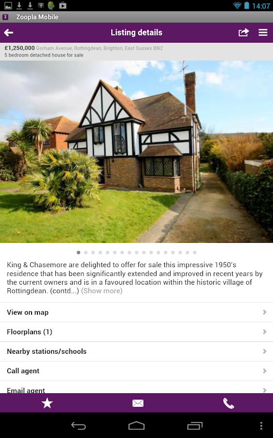 Zoopla Property Search - screenshot