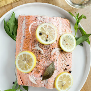 Slow Cooker Poached Salmon.