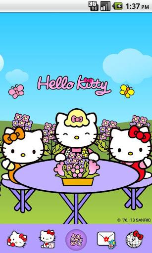 Hello Kitty Flower mom Theme