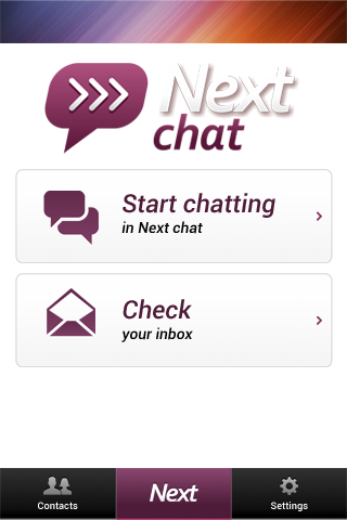Next Chat 匿名の知り合い