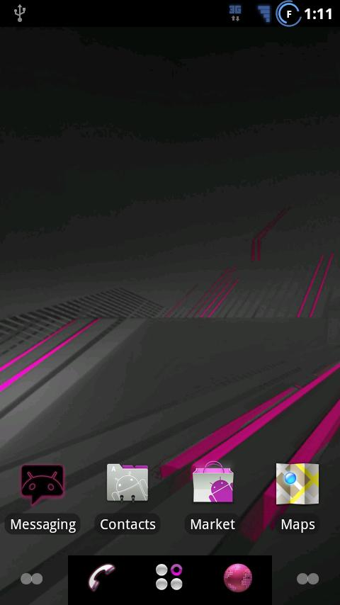 ADW Pink Honeycomb - screenshot