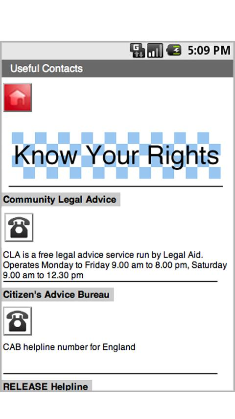 Know Your Rights UK - screenshot