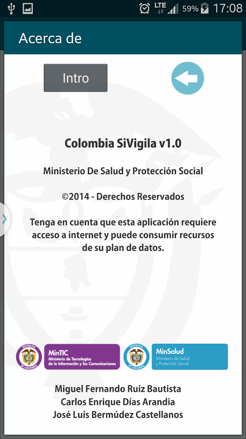 ColombiaSIVigila- screenshot
