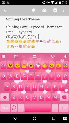 Shining Love Emoji Keyboard