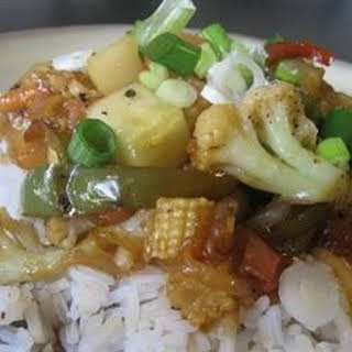 Stir-Fried Sweet and Sour Vegetables.