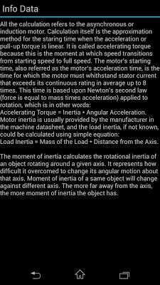 Motor Starting Time - screenshot