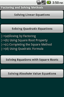 Screenshot of Algebra Cheat Sheet (Free)