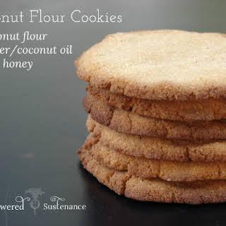 Three Ingredient Coconut Flour Cookies.