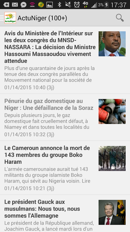 Actu Niger- screenshot