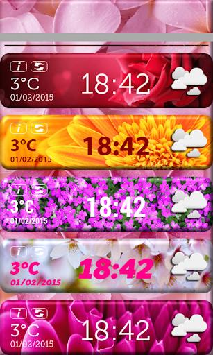 玩天氣App|花卉时钟天气预报微件免費|APP試玩