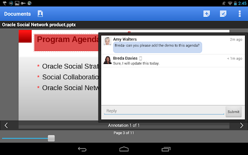 Oracle Social Network- screenshot thumbnail