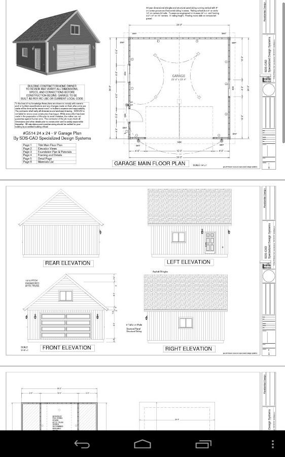 24 X 24 Garage Plans Blueprint - Android Apps On Google Play