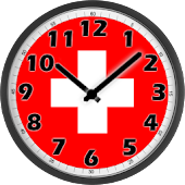 Switzerland Flag Analog Clock