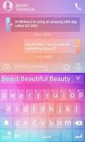 Screenshot of GO Keyboard Light Theme