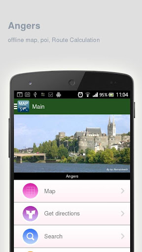 Angers Map offline