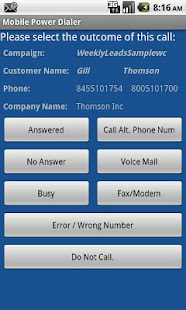 MobilCTI Auto Power Dialer- screenshot thumbnail