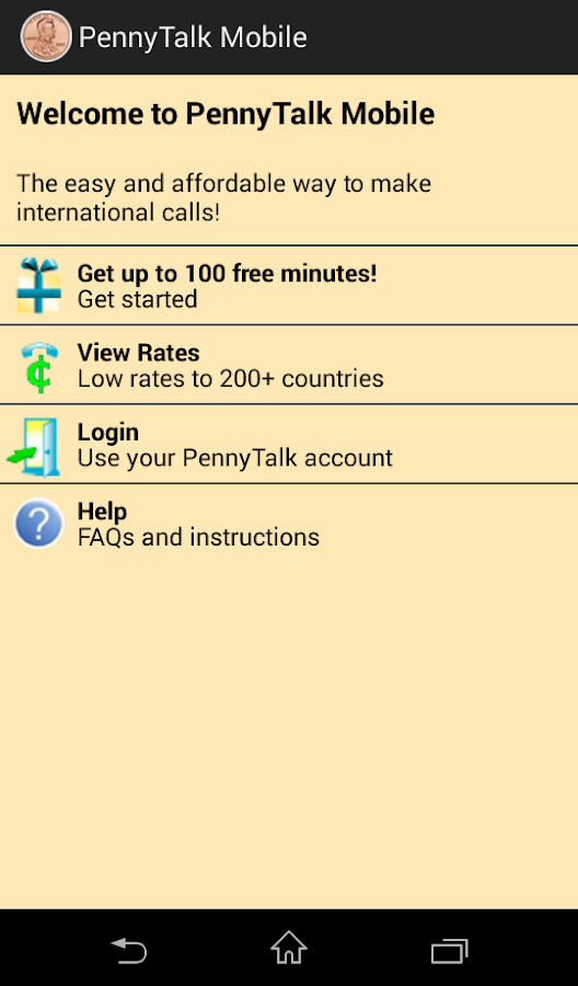 PennyTalk Mobile- screenshot