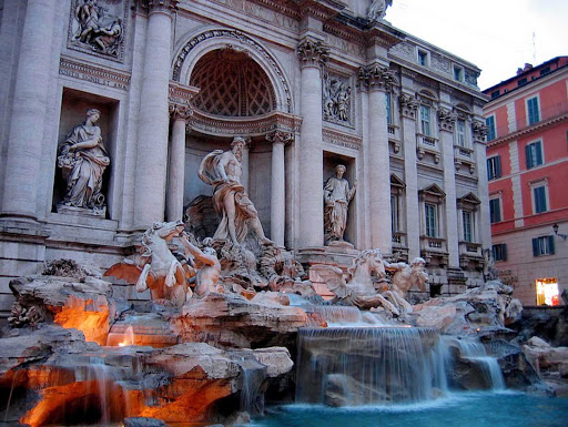 Trevi-Fountain-Rome - Trevi Fountain in Rome. Careful not to get hit by flying coins!